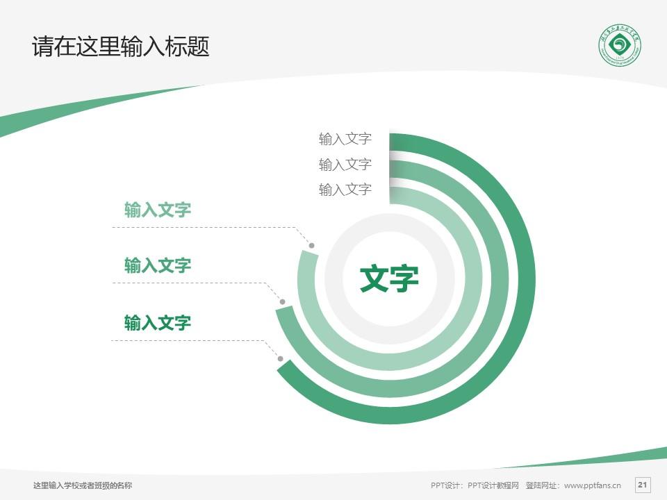 湖南食品药品职业学院PPT模板下载_幻灯片预览图21