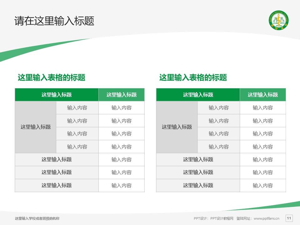 南阳医学高等专科学校PPT模板下载_幻灯片预览图11