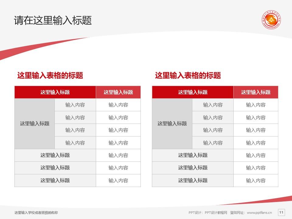 安阳幼儿师范高等专科学校PPT模板下载_幻灯片预览图11