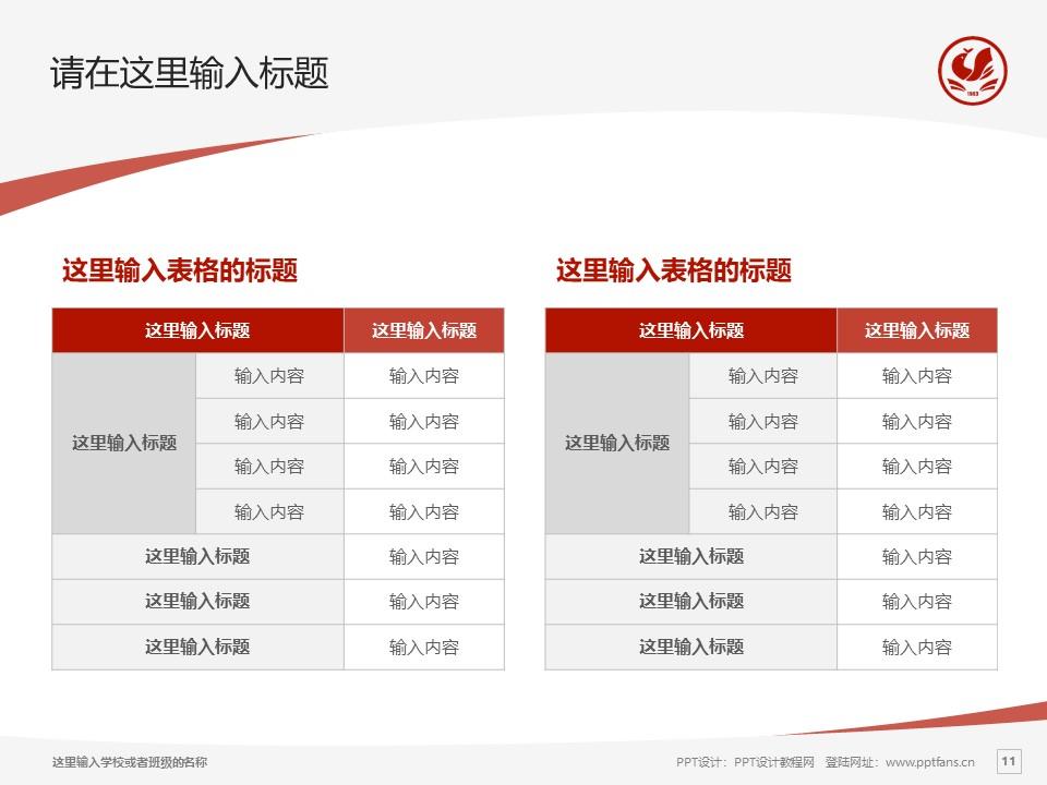 河南财政金融学院PPT模板下载_幻灯片预览图11