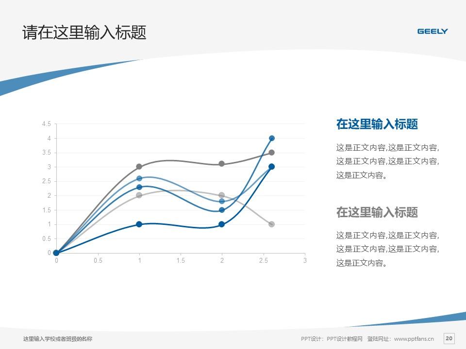 湖南吉利汽车职业技术学院PPT模板下载_幻灯片预览图20
