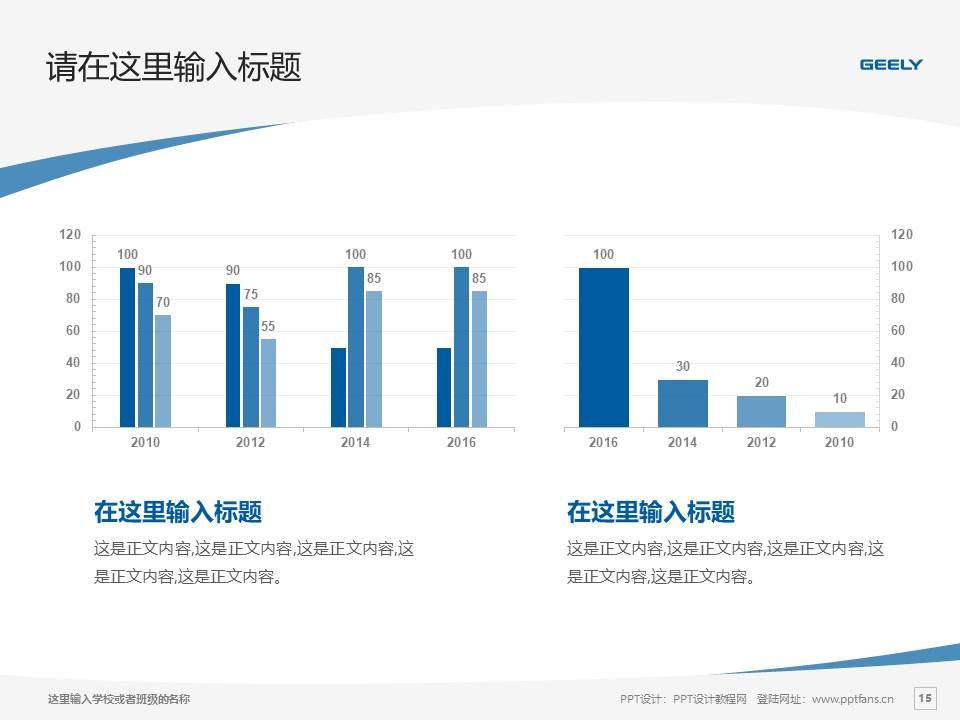 湖南吉利汽车职业技术学院PPT模板下载_幻灯片预览图15