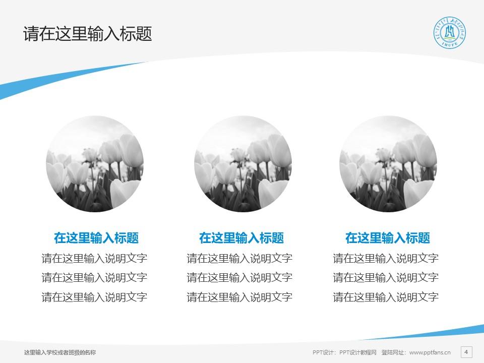 内蒙古财经大学PPT模板下载_幻灯片预览图4