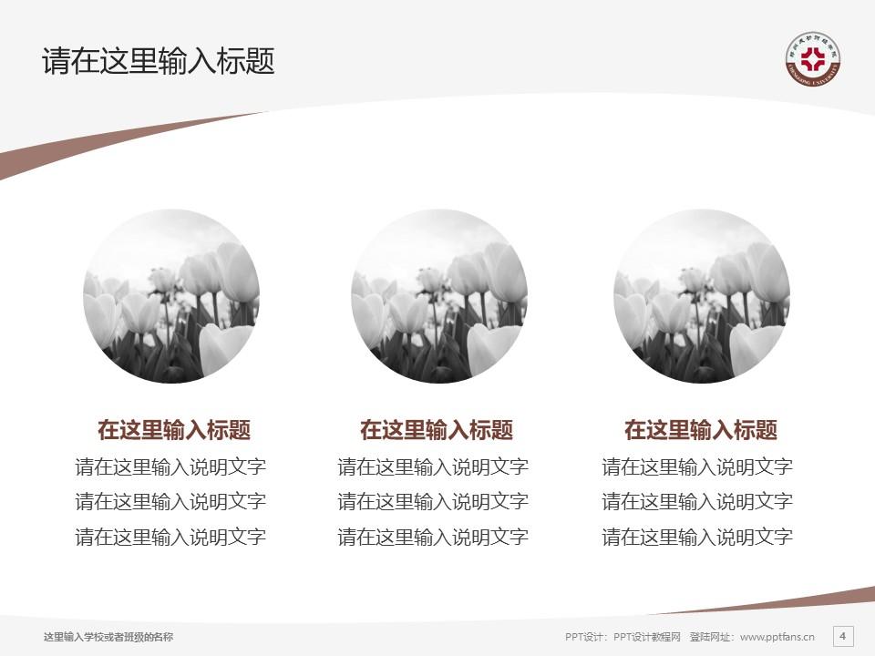 郑州成功财经学院PPT模板下载_幻灯片预览图4