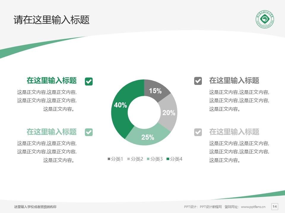 湖南食品药品职业学院PPT模板下载_幻灯片预览图14