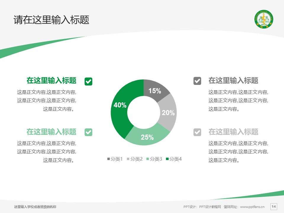南阳医学高等专科学校PPT模板下载_幻灯片预览图14