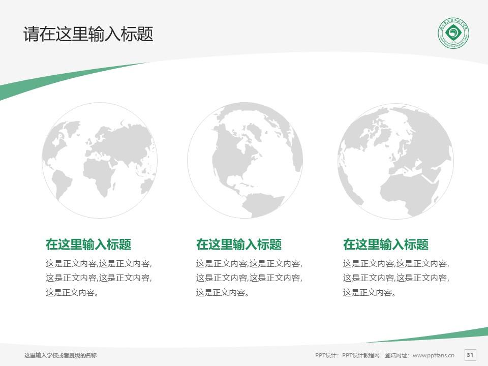 湖南食品药品职业学院PPT模板下载_幻灯片预览图31