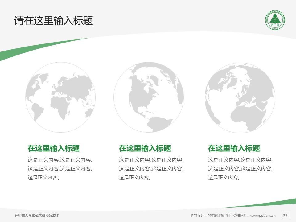 郑州澍青医学高等专科学校PPT模板下载_幻灯片预览图31