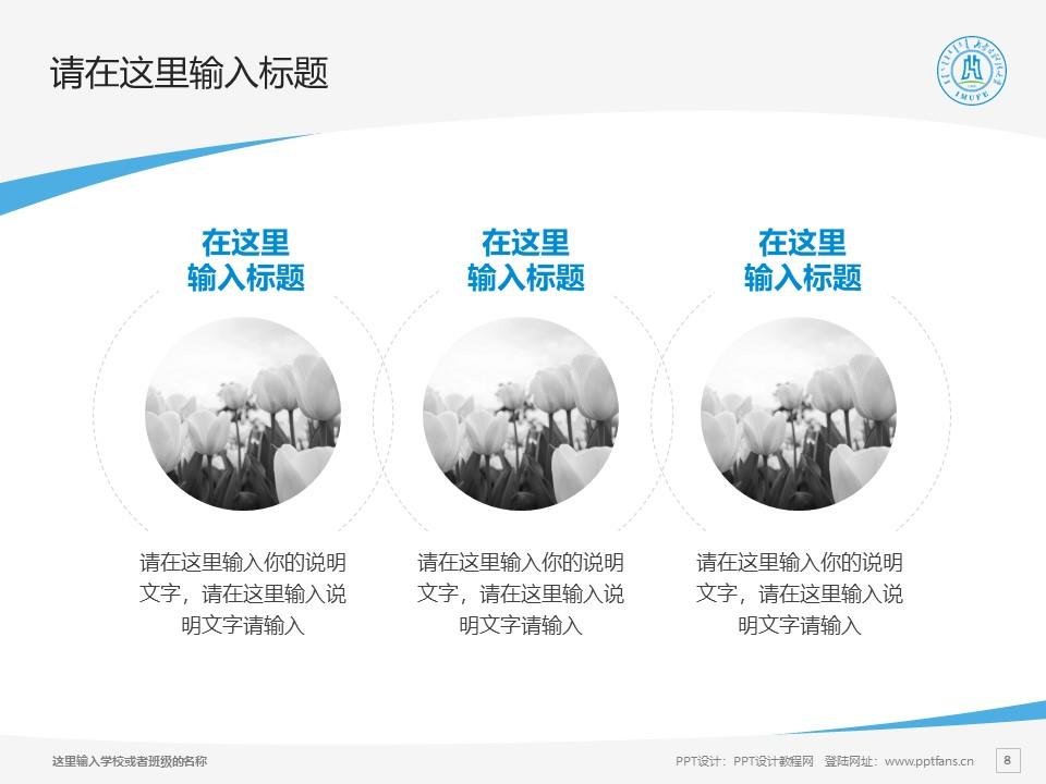内蒙古财经大学PPT模板下载_幻灯片预览图8