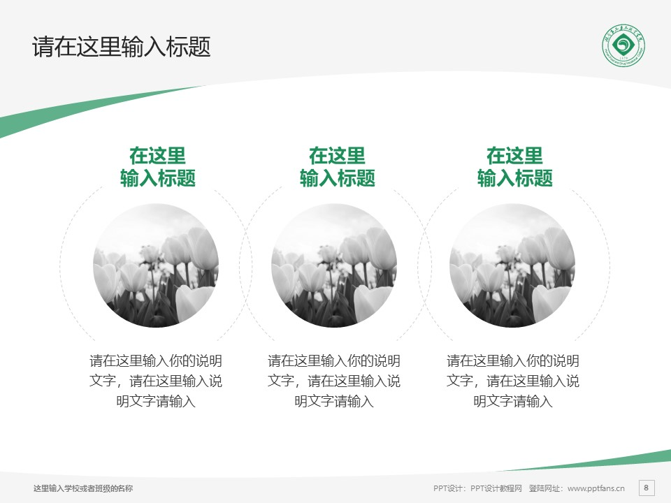 湖南食品药品职业学院PPT模板下载_幻灯片预览图8