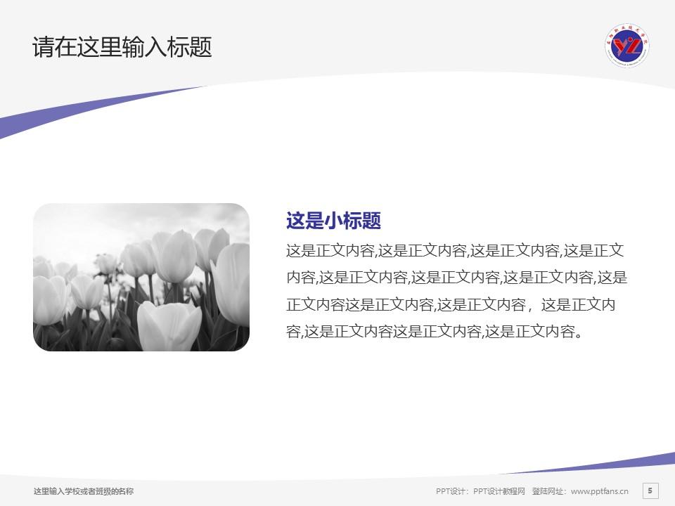 益阳职业技术学院PPT模板下载_幻灯片预览图5