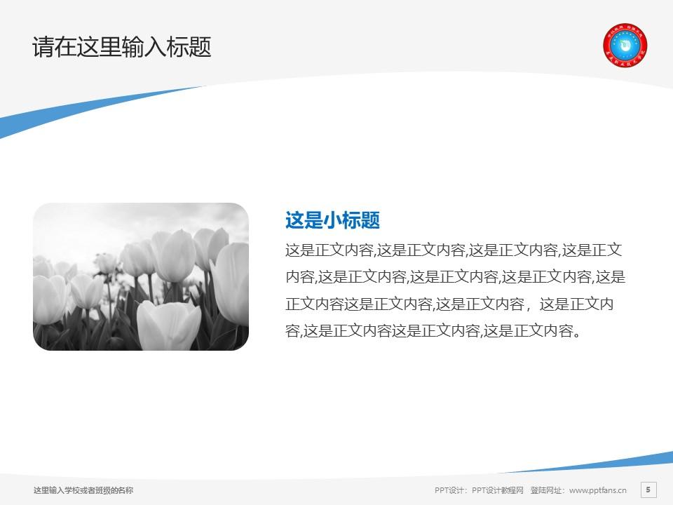 娄底职业技术学院PPT模板下载_幻灯片预览图5