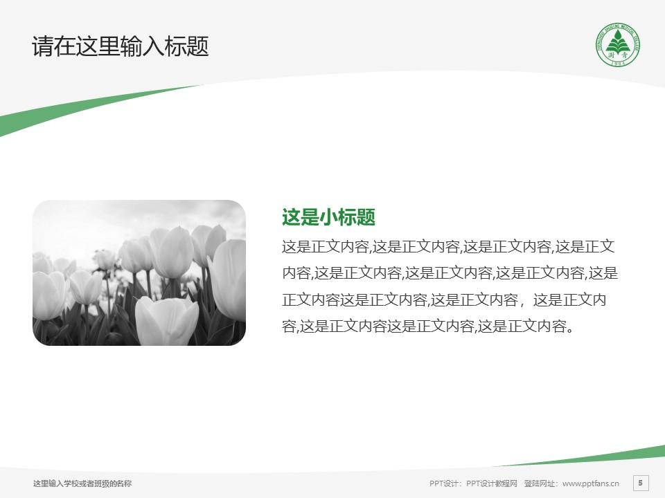 郑州澍青医学高等专科学校PPT模板下载_幻灯片预览图5