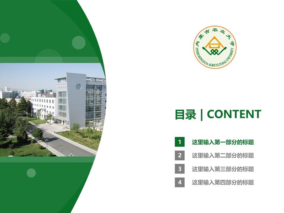 内蒙古农业大学PPT模板下载_幻灯片预览图3
