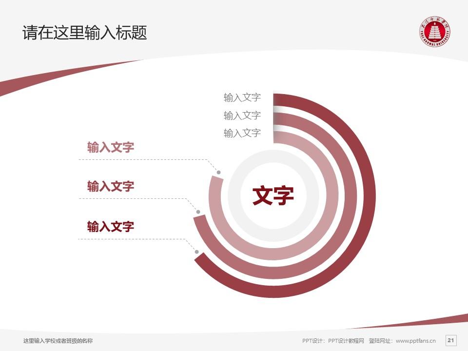 玉溪师范学院PPT模板下载_幻灯片预览图21
