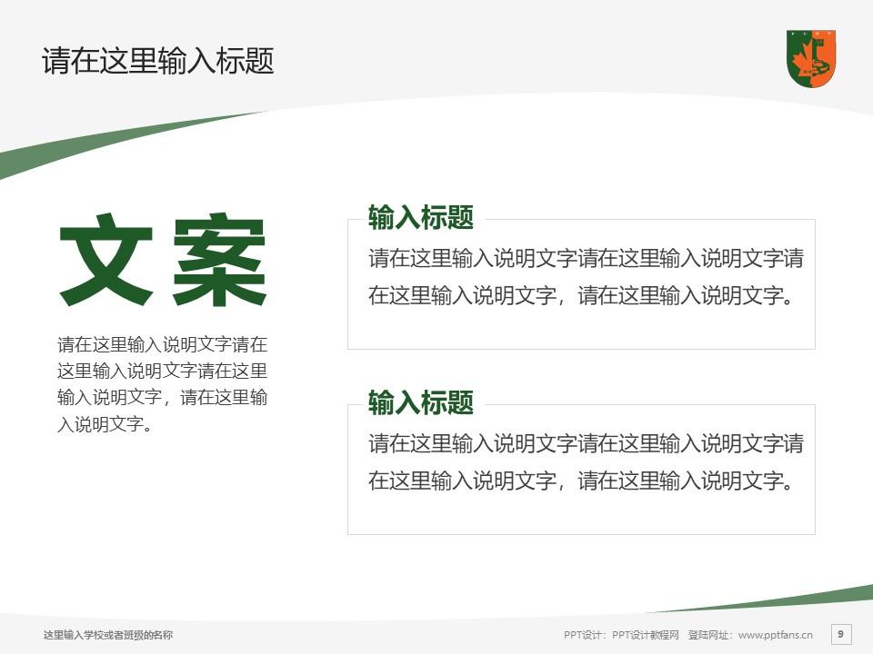 江西枫林涉外经贸职业学院PPT模板下载_幻灯片预览图9
