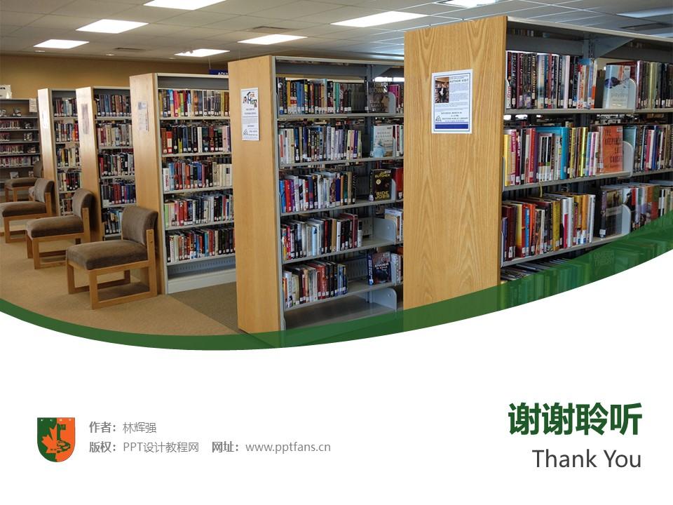 江西枫林涉外经贸职业学院PPT模板下载_幻灯片预览图32