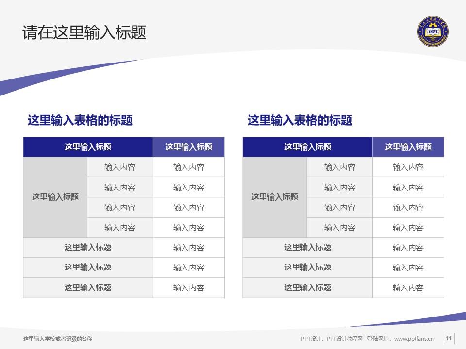 云南商务职业学院PPT模板下载_幻灯片预览图11