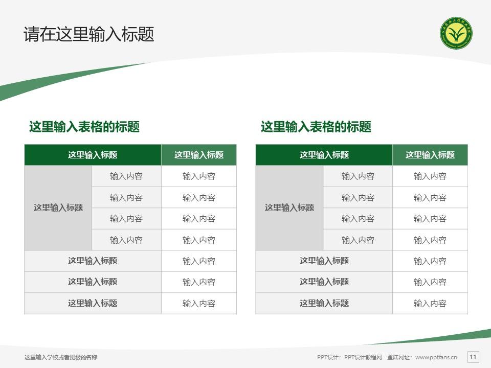 江西农业工程职业学院PPT模板下载_幻灯片预览图11