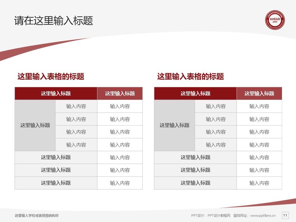 江西先锋软件职业技术学院PPT模板下载_幻灯片预览图11