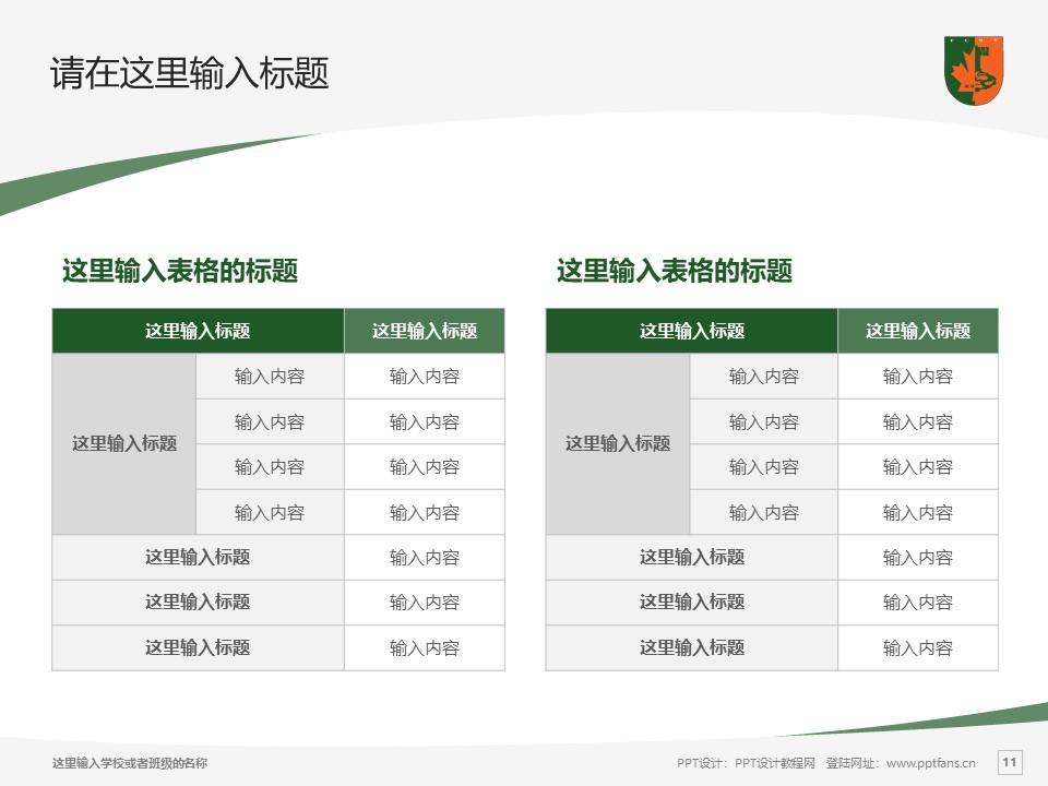 江西枫林涉外经贸职业学院PPT模板下载_幻灯片预览图11