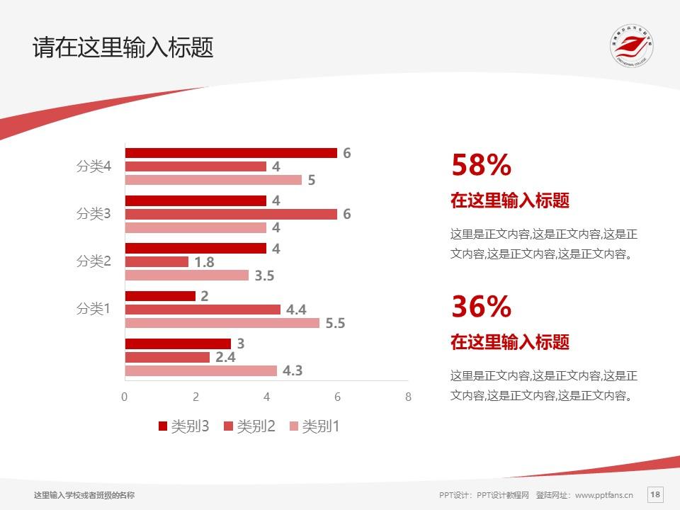 淄博师范高等专科学校PPT模板下载_幻灯片预览图18