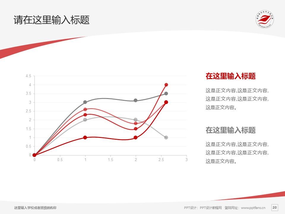 淄博师范高等专科学校PPT模板下载_幻灯片预览图20
