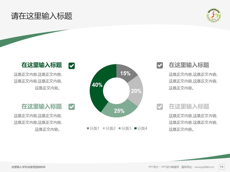 湖南外国语职业学院PPT模板下载_幻灯片预览图14