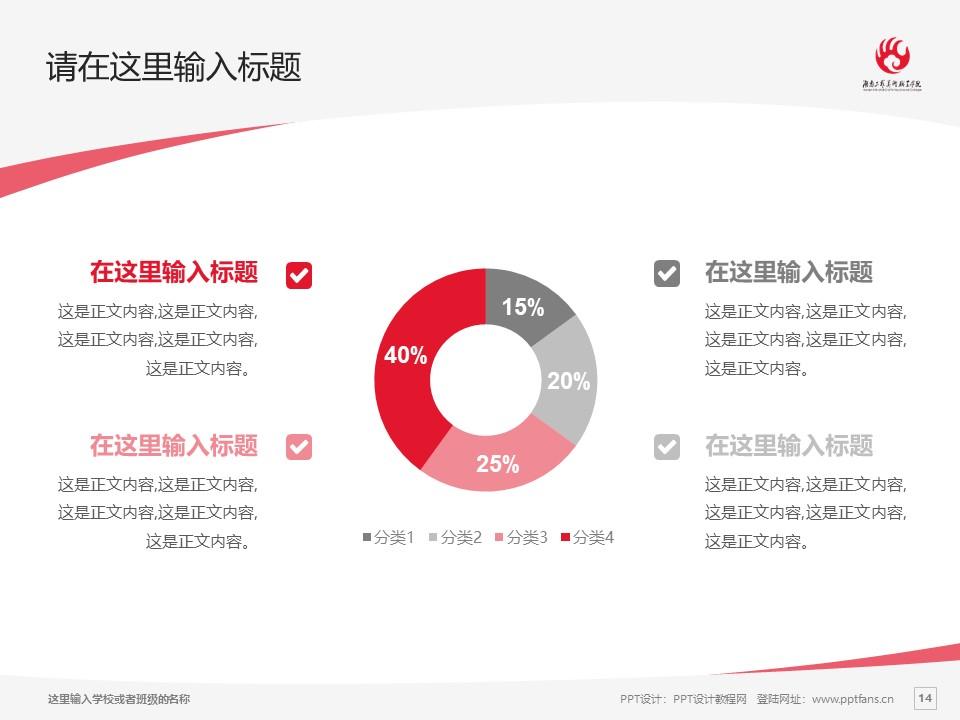 湖南工艺美术职业学院PPT模板下载_幻灯片预览图14
