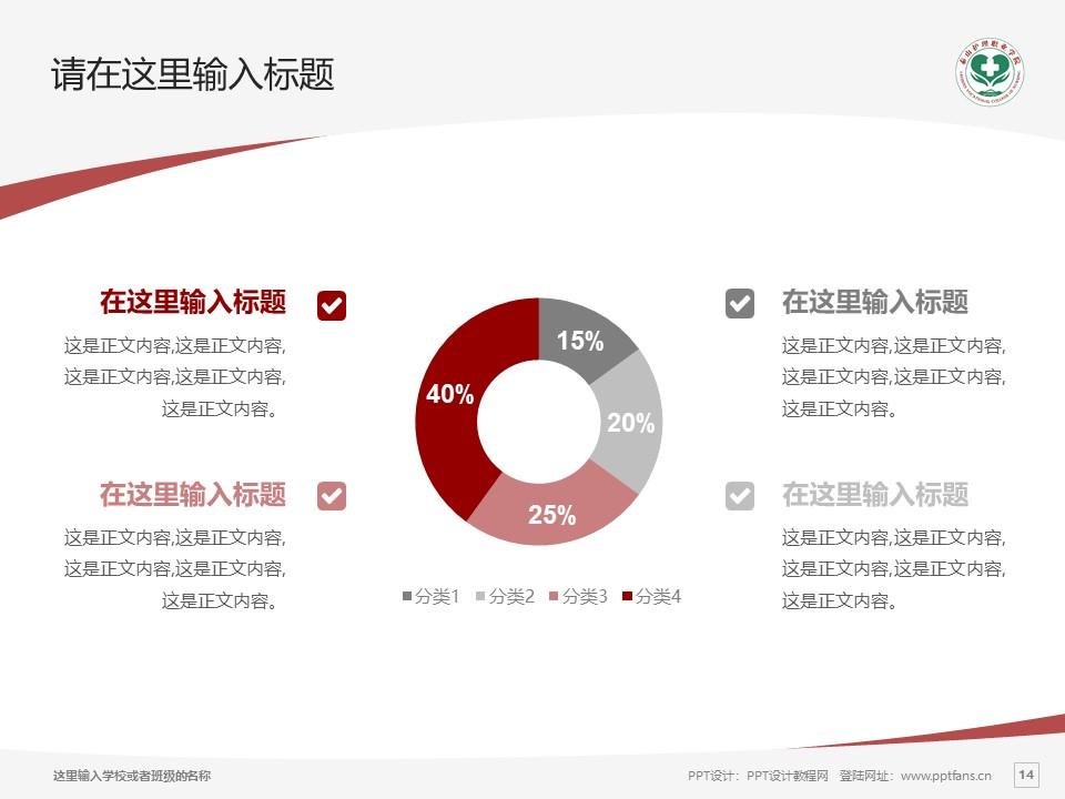 济南护理职业学院PPT模板下载_幻灯片预览图14