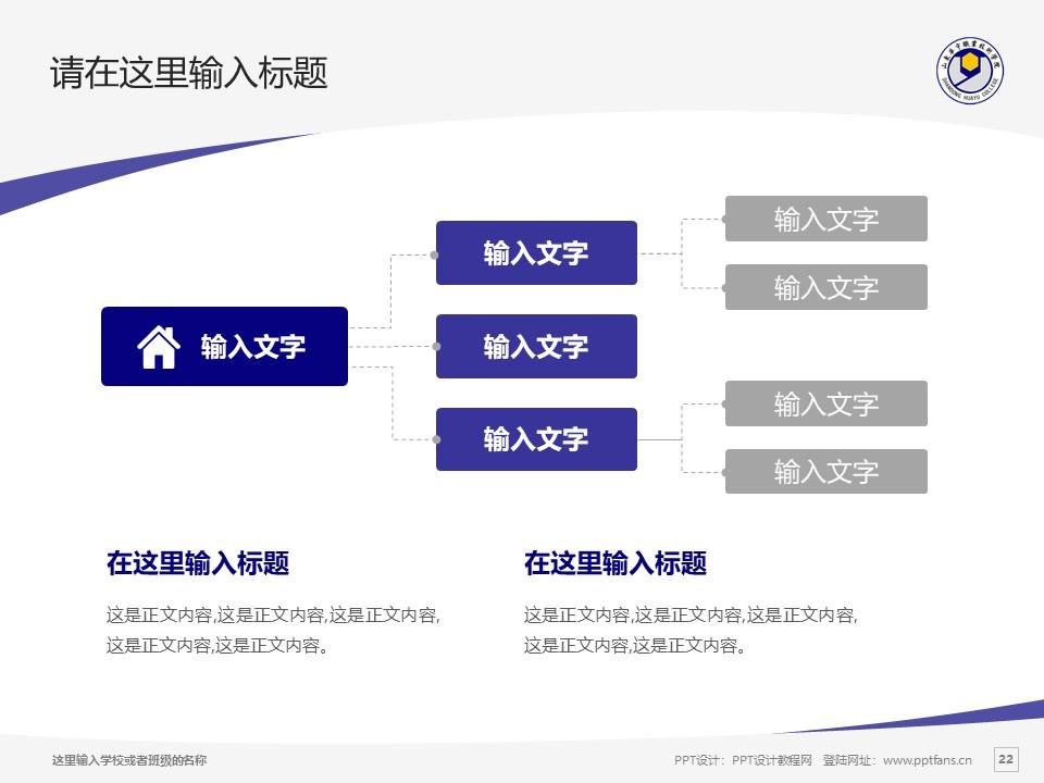 山东华宇职业技术学院PPT模板下载_幻灯片预览图22