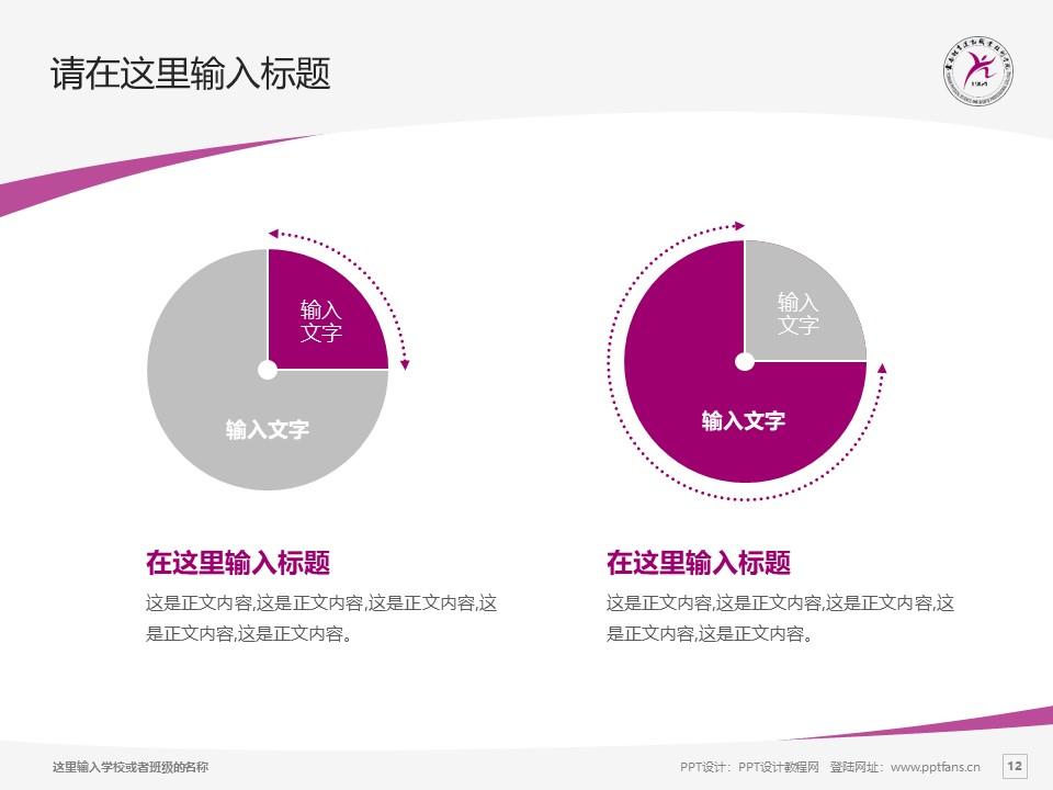 云南体育运动职业技术学院PPT模板下载_幻灯片预览图12