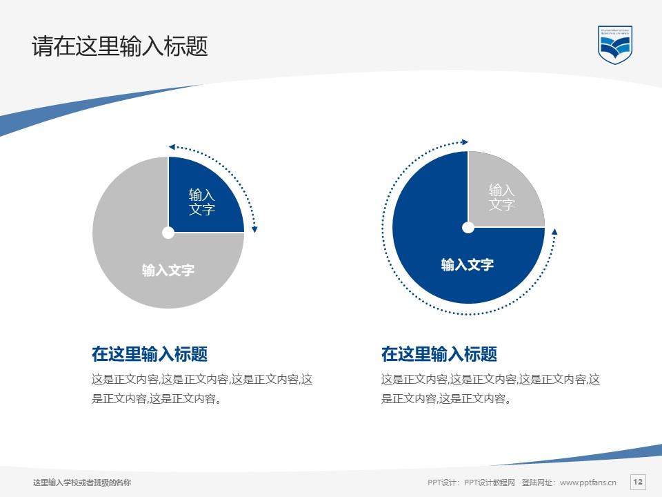 湖南涉外经济学院PPT模板下载_幻灯片预览图12