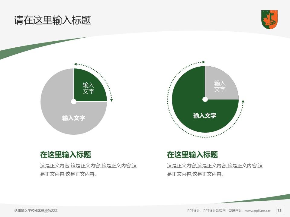 江西枫林涉外经贸职业学院PPT模板下载_幻灯片预览图12