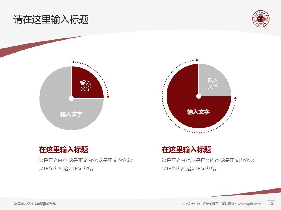 山东文化产业职业学院PPT模板下载_幻灯片预览图12