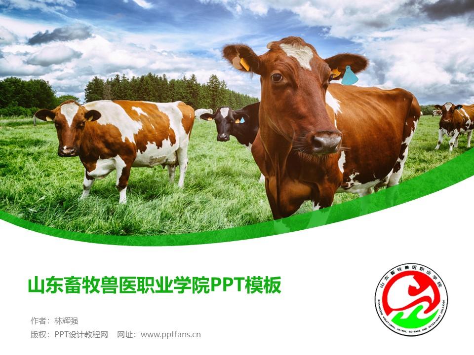 山东畜牧兽医职业学院PPT模板下载_幻灯片预览图1