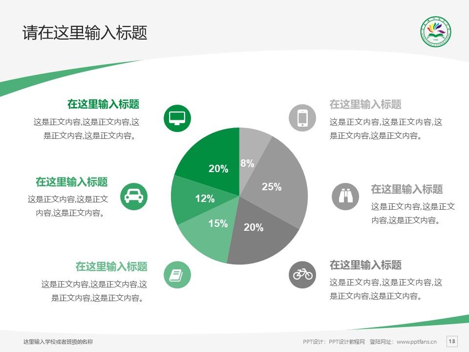 云南旅游职业学院PPT模板下载_幻灯片预览图13