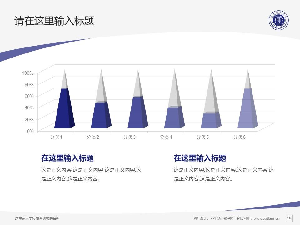 豫章师范学院PPT模板下载_幻灯片预览图16