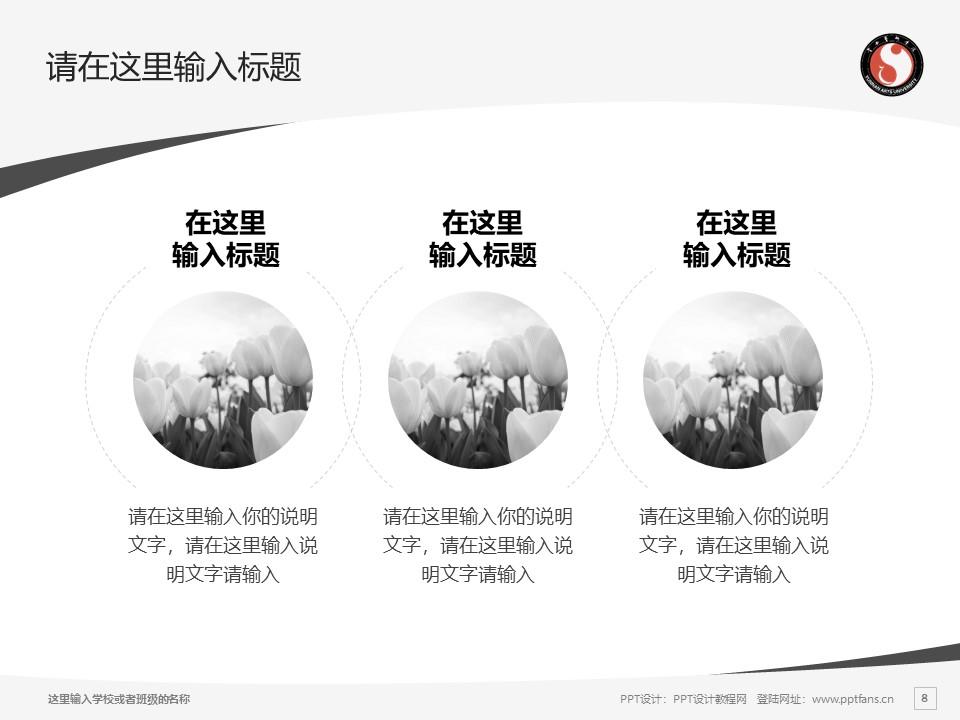 云南艺术学院PPT模板下载_幻灯片预览图8
