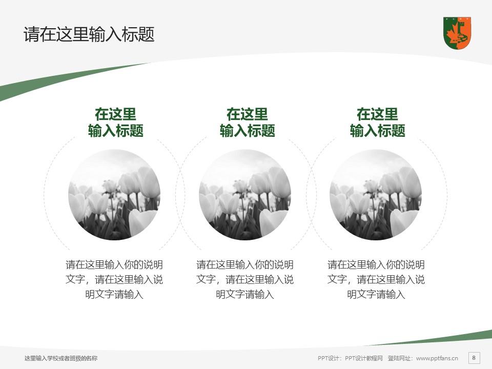 江西枫林涉外经贸职业学院PPT模板下载_幻灯片预览图8