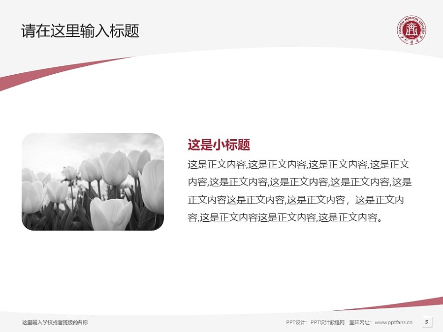 泸州医学院PPT模板下载_幻灯片预览图5