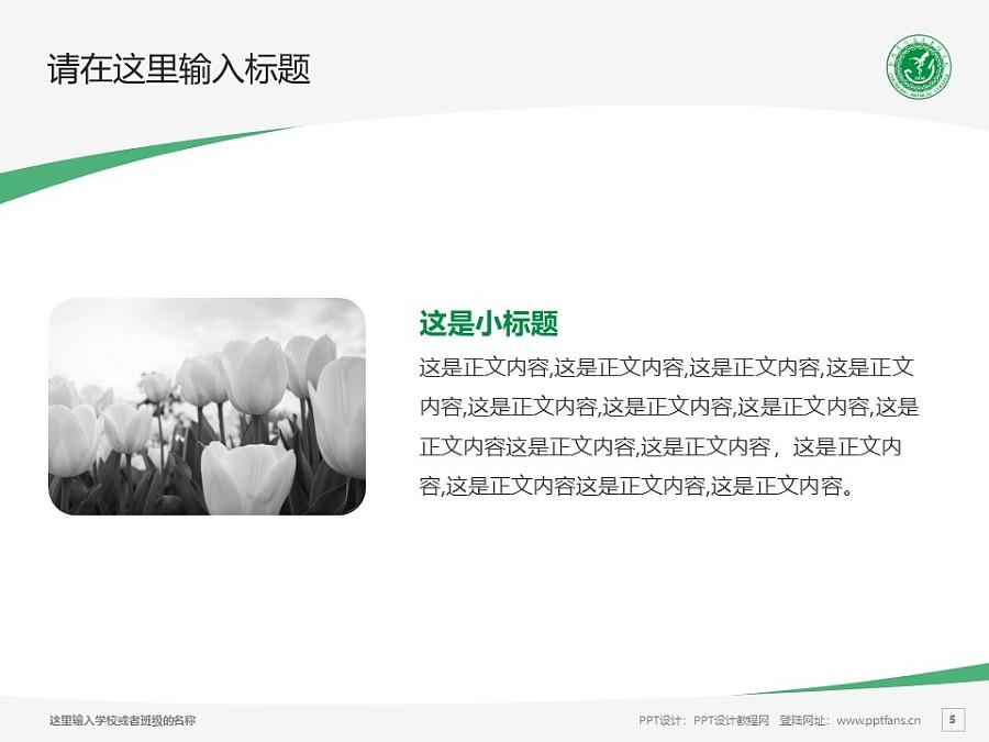 楚雄医药高等专科学校PPT模板下载_幻灯片预览图5