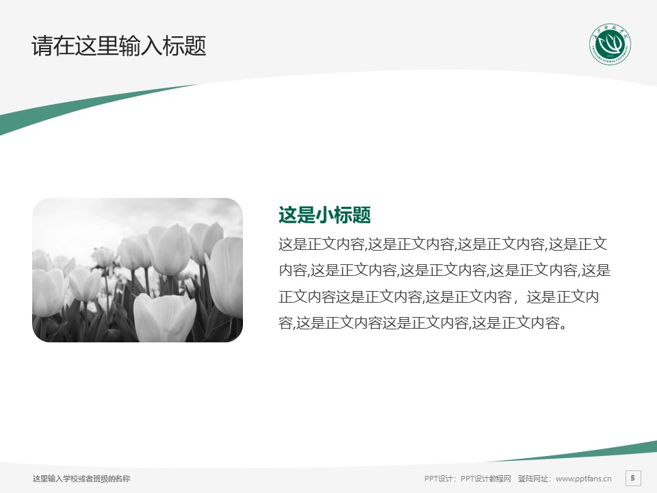 长沙师范学院PPT模板下载_幻灯片预览图5