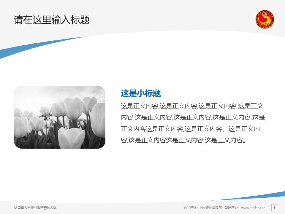 湖南都市职业学院PPT模板下载_幻灯片预览图5