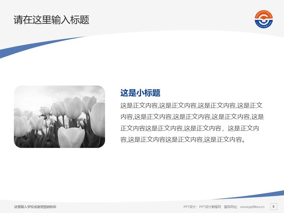 山东药品食品职业学院PPT模板下载_幻灯片预览图5