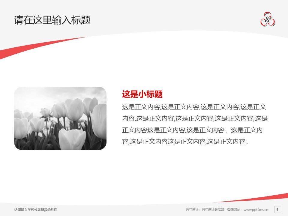 山东信息职业技术学院PPT模板下载_幻灯片预览图5