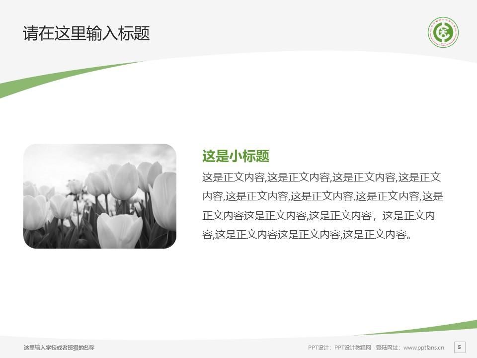山东中医药高等专科学校PPT模板下载_幻灯片预览图5