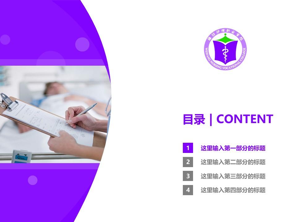 潍坊护理职业学院PPT模板下载_幻灯片预览图3