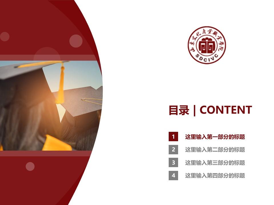 山东文化产业职业学院PPT模板下载_幻灯片预览图3