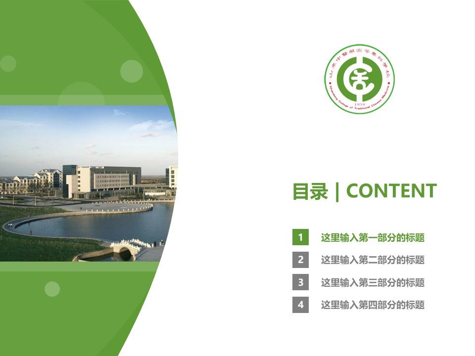 山东中医药高等专科学校PPT模板下载_幻灯片预览图3